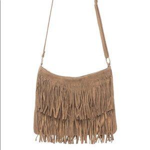 Brandy Melville Leather Fringe Bag